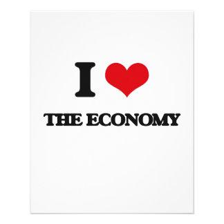 "I love The Economy 4.5"" X 5.6"" Flyer"