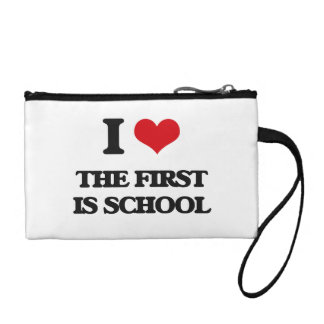 I love The First Is School Change Purses