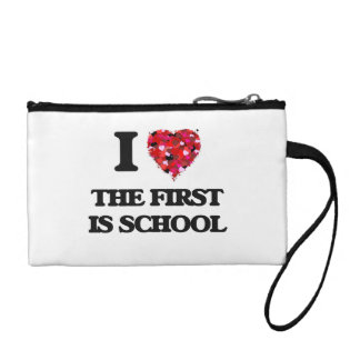 I love The First Is School Coin Wallet