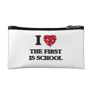 I love The First Is School Cosmetics Bags