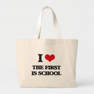 I love The First Is School Jumbo Tote Bag
