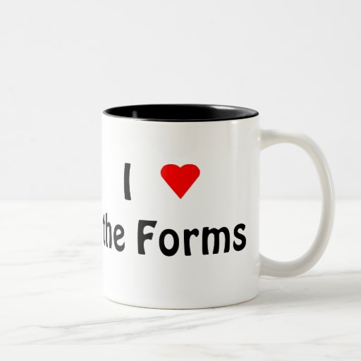 I Love the Forms black 2-tone mug (left-hand)