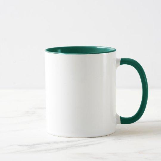 I Love the Forms green ringer mug (right-hand)