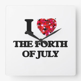 I love The Forth Of July Wallclocks