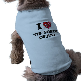 I love The Forth Of July Sleeveless Dog Shirt