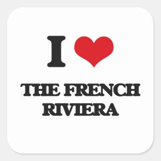 I love The French Riviera Square Sticker