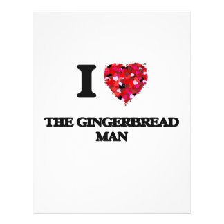 I love The Gingerbread Man 21.5 Cm X 28 Cm Flyer
