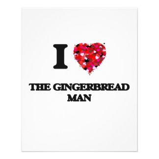 I love The Gingerbread Man 11.5 Cm X 14 Cm Flyer