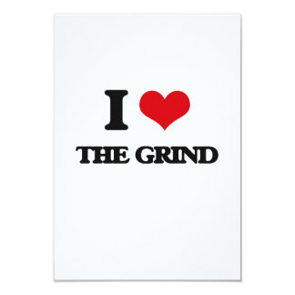 I Love The Grind 3.5x5 Paper Invitation Card