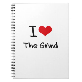 I Love The Grind Spiral Note Book