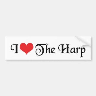 I Love The Harp Bumper Sticker