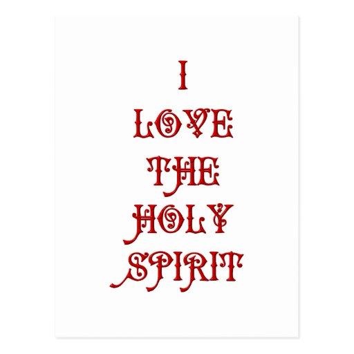 I love the Holy Spirit Postcards
