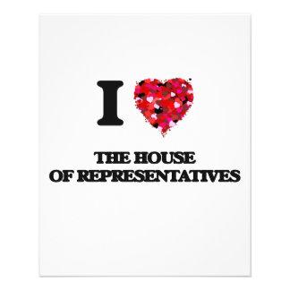 I love The House Of Representatives 11.5 Cm X 14 Cm Flyer
