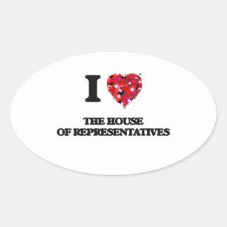 I love The House Of Representatives Oval Sticker