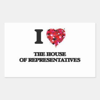I love The House Of Representatives Rectangular Sticker