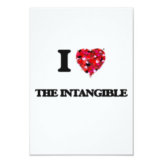 I love The Intangible 9 Cm X 13 Cm Invitation Card