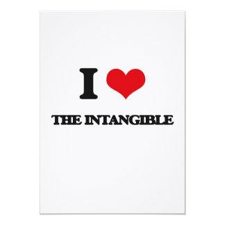 I Love The Intangible 13 Cm X 18 Cm Invitation Card