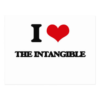 I Love The Intangible Postcard