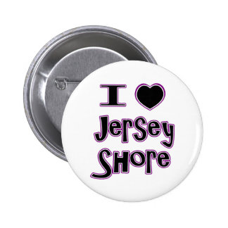 I love the jersey shore 6 cm round badge