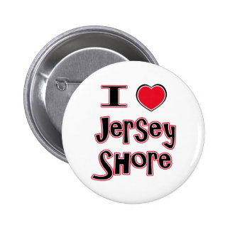 I love the jersey shore red 6 cm round badge