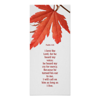 I love the Lord, red maple wall poster