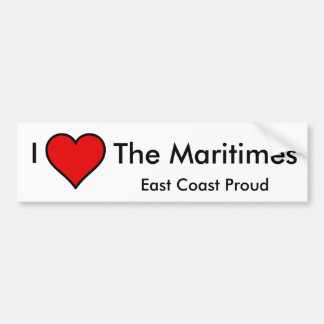 I Love The Maritimes Bumper Sticker