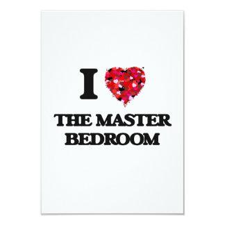 I love The Master Bedroom 9 Cm X 13 Cm Invitation Card
