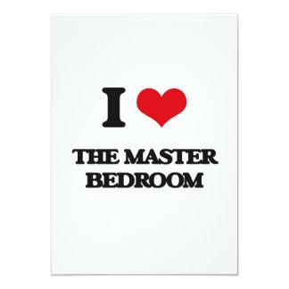 "I love The Master Bedroom 5"" X 7"" Invitation Card"