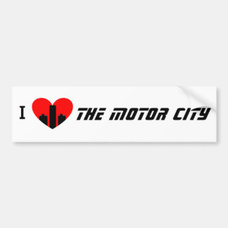 I Love the Motor City Bumper Sticker