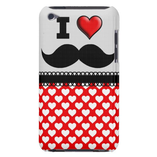I Love the Moustache Moustache Stache iPod Case-Mate Case