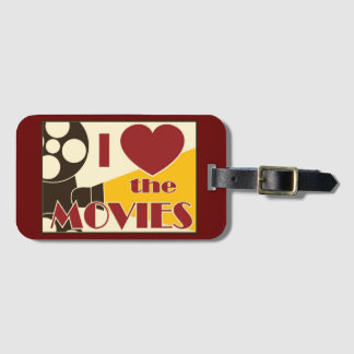 I Love the Movies Luggage Tag