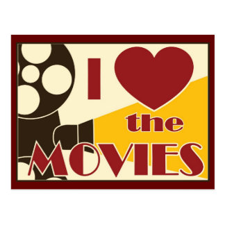 I Love the Movies Postcard