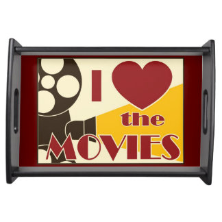 I Love the Movies Serving Trays