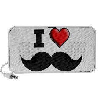 I Love the Mustache Moustache Speaker System
