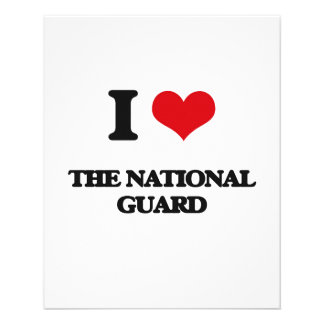 I Love The National Guard 11.5 Cm X 14 Cm Flyer