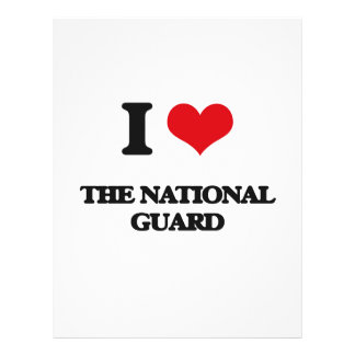 I Love The National Guard 21.5 Cm X 28 Cm Flyer