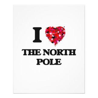I love The North Pole 11.5 Cm X 14 Cm Flyer