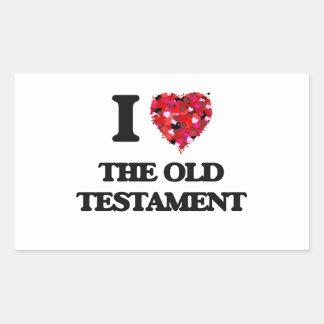 I love The Old Testament Rectangular Sticker