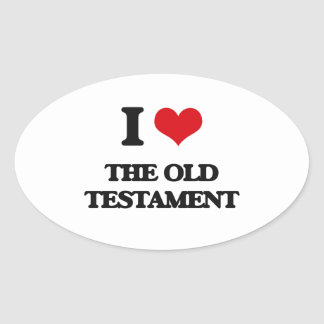I Love The Old Testament Oval Sticker