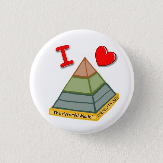 I Love the Pyramid Model! 3 Cm Round Badge