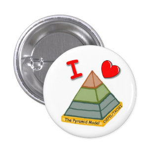 I Love the Pyramid Model! 3 Cm Round Badge