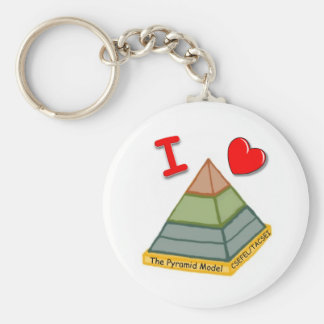 I Love the Pyramid Model! Basic Round Button Key Ring