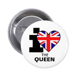 I Love the Queen Button