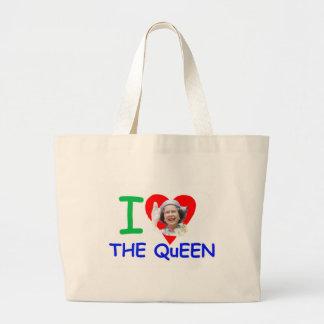 I love the Queen - Queen Elizabeth II Tote Bags
