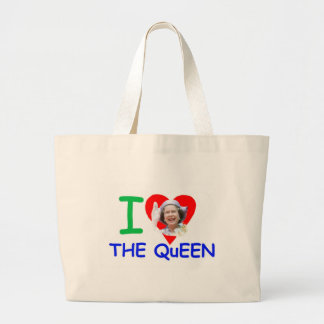 I love the Queen - Queen Elizabeth II Large Tote Bag