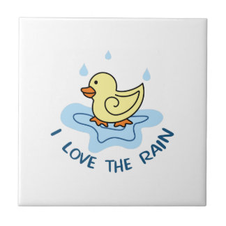 I LOVE THE RAIN SMALL SQUARE TILE
