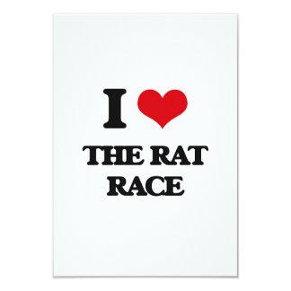 I Love The Rat Race 3.5x5 Paper Invitation Card
