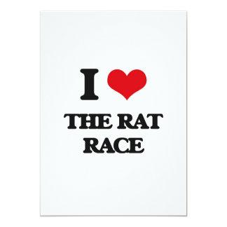 I Love The Rat Race 13 Cm X 18 Cm Invitation Card