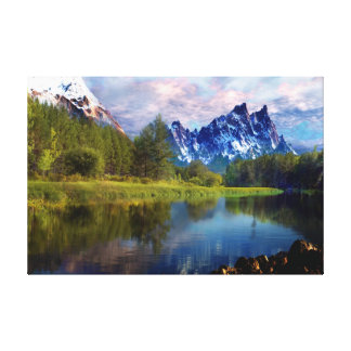 I-Love the Rocky Mountain Oil Painting-on Canvas Gallery Wrap Canvas
