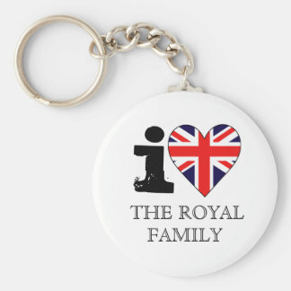 I Love the Royal Family Keychain